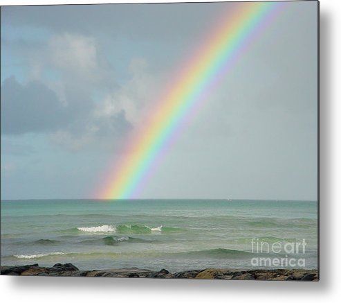 Rainbow Metal Print featuring the photograph Gods Smile by PJ Cloud