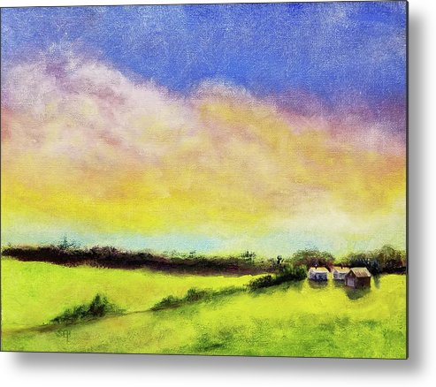 Cloud Metal Print featuring the painting Gold In The Bank by Susan Hanna