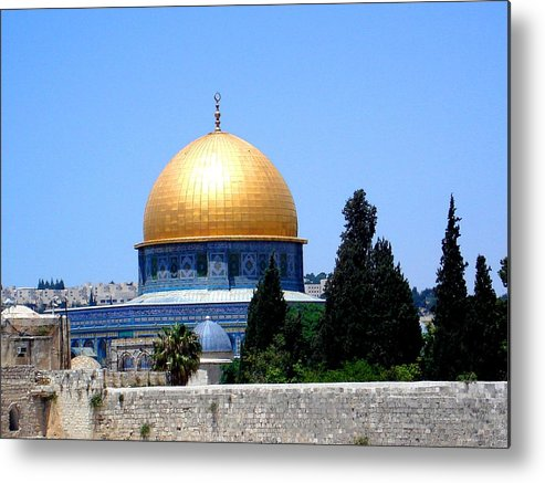 Golden Metal Print featuring the photograph Golden Dome by Roberto Alamino