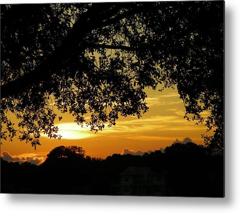 Sunset Metal Print featuring the photograph Golden Home by Peter McIntosh