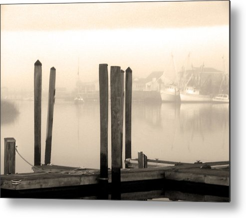 Cape Fear River Metal Print featuring the photograph Golden Mornings by Paul Boroznoff