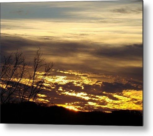 Sunrise Metal Print featuring the photograph Golden Sunrise One by Ana Villaronga