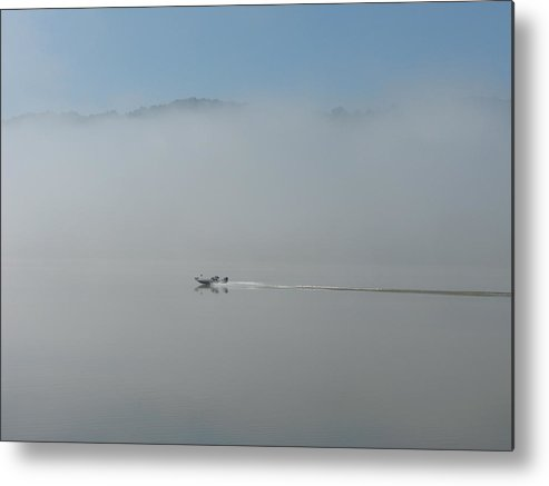 River Metal Print featuring the photograph Gone Fishing by Martie DAndrea
