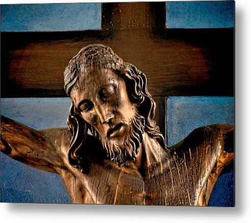Easter Metal Print featuring the photograph Good Friday Jesus On The Cross by Christine Till