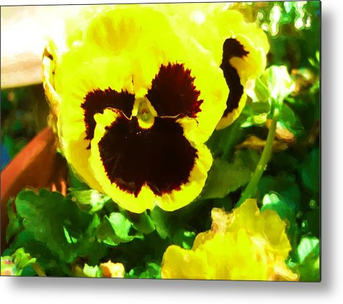 Metal Print featuring the digital art Good Morning Sun Shine by Jonathan Galente