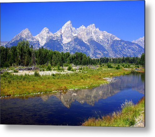 Grand Teton National Park Metal Print featuring the photograph Grand Tetons by Marty Koch