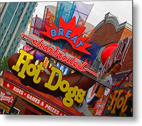 Neon Signs Metal Print featuring the photograph Great Charbroiled Hot Dogs by Elizabeth Hoskinson