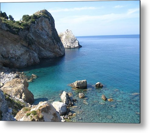 Greece Metal Print featuring the photograph Greece Skiathos Kastro by Yvonne Ayoub