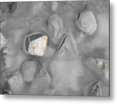 Landscape Metal Print featuring the photograph Grey And White And Grey by john Kuti