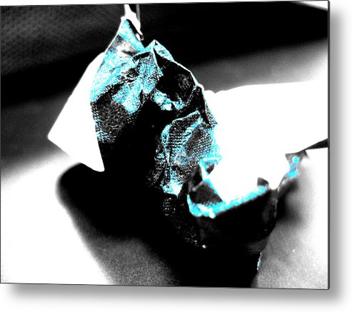 Abstract Metal Print featuring the photograph Gum Wrapper by Anna Thomas