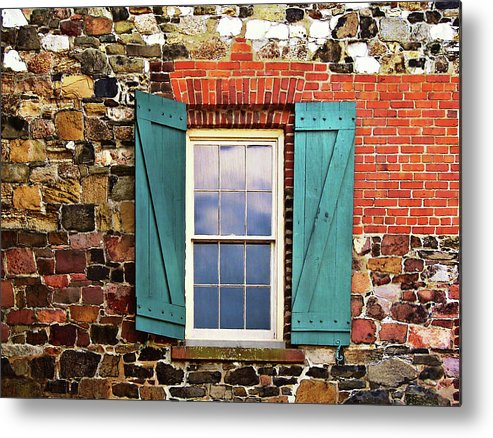 Window Metal Print featuring the photograph Haint Blue by JAMART Photography