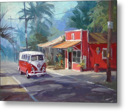 Hawaii Metal Print featuring the painting Haleiwa by Richard Robinson