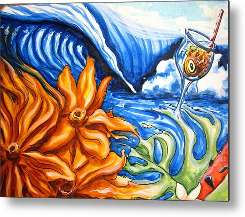Surf Metal Print featuring the painting Happyhour by Ronnie Jackson
