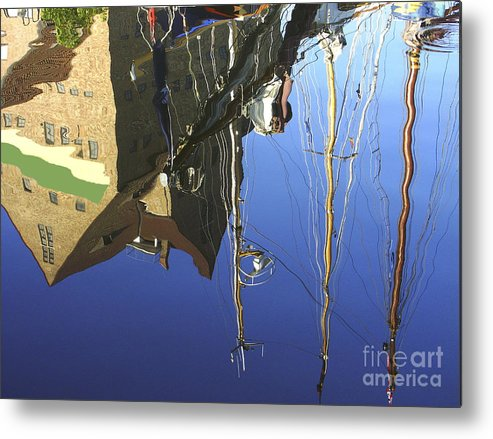 Harbor Metal Print featuring the photograph Harbour Reflection by Sascha Meyer