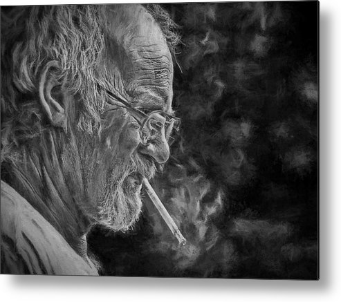 Man Metal Print featuring the photograph Hard Working Man by Theresa Campbell