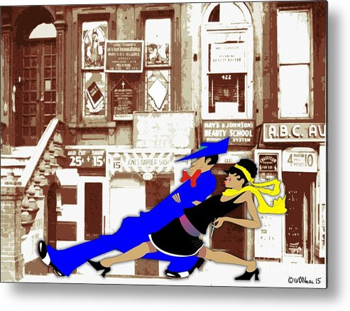 Harlem Metal Print featuring the digital art Harlem Strut by Walter Oliver Neal