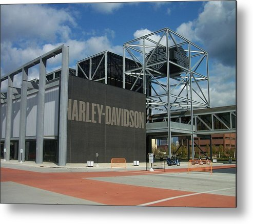 Metal Print featuring the photograph Harley Museum by Anita Burgermeister