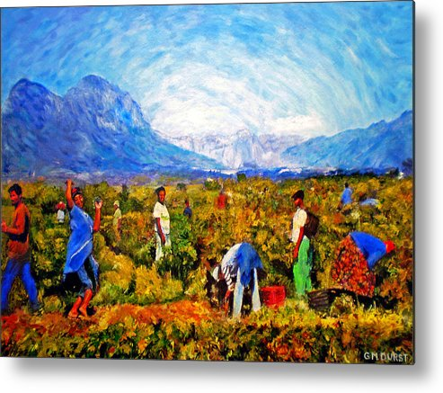 Vineyard Metal Print featuring the painting Harvest Time by Michael Durst