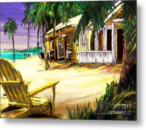 Romantic Metal Print featuring the digital art Have A Seat by Mike Massengale