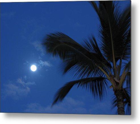 Moon Metal Print featuring the photograph Hawaiian Moon by Sarah Houser