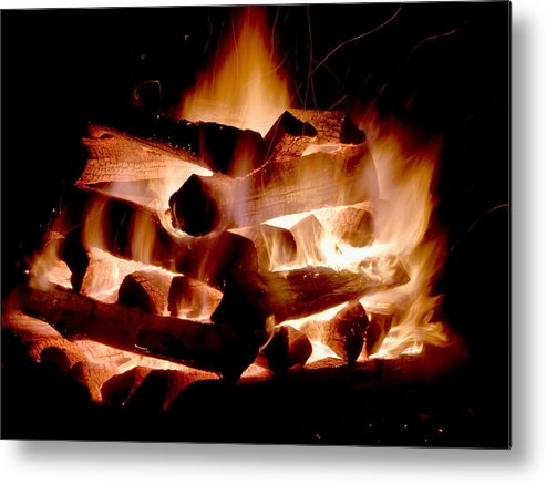 Fire Metal Print featuring the photograph Heart Of Fire by Jim DeLillo