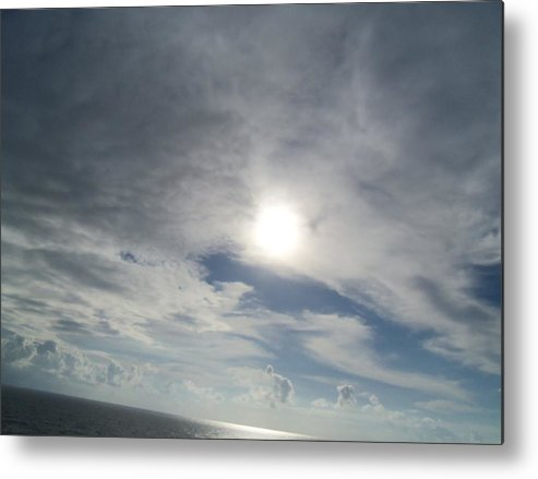 Ditgital Metal Print featuring the photograph Hidden Kight by Vell Thomas