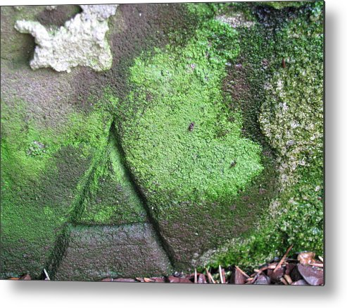 Stone Carving Metal Print featuring the photograph Hidden Meaning by Belinda Consten