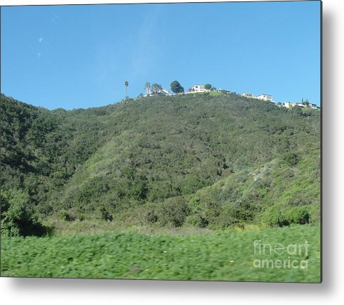 Hill With A House Metal Print featuring the photograph Hill With A House by Alice Heart