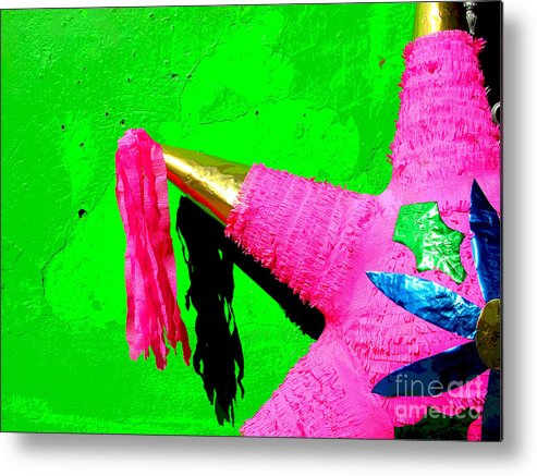 Darian Day Metal Print featuring the photograph Holiday Pinata By Darian Day by Mexicolors Art Photography