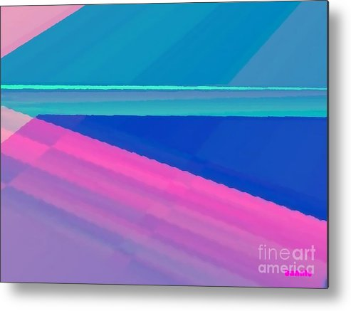 Pstel Colours Metal Print featuring the digital art Horizon by Honney Stanton