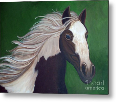 Horse Metal Print featuring the painting Horse Run by Nick Gustafson
