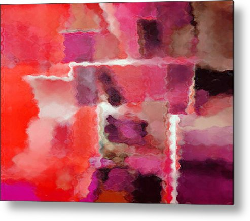 Digital Metal Print featuring the painting Hot Colors by Vicky Brago-Mitchell