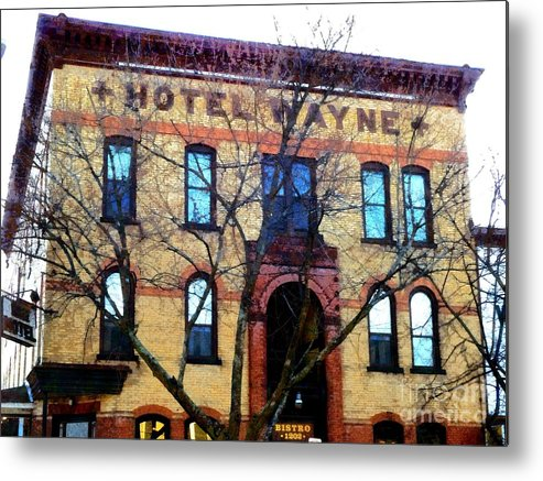 Honesdale Pa Metal Print featuring the photograph Hotel Wayne Bistro - Honesdale Pa by Janine Riley