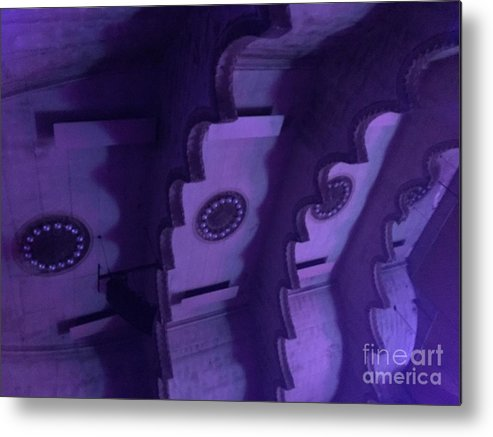 Massey Hall Metal Print featuring the photograph Hues Of Massey Hall - Purple by Cheryl Mouncey