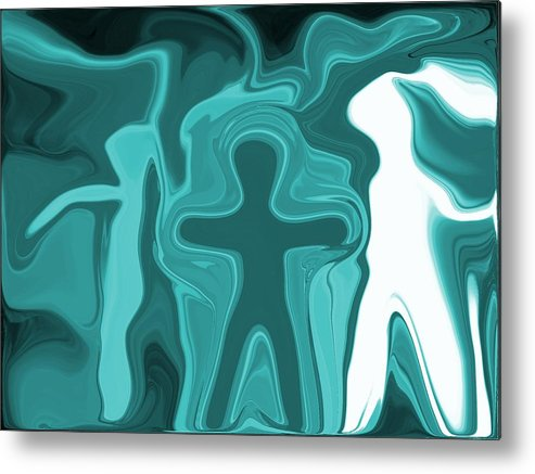 Humans Metal Print featuring the digital art Humanity by ThiART ThiART