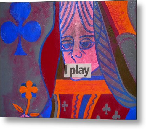 Queen Metal Print featuring the painting I Play by Heinrich Haasbroek