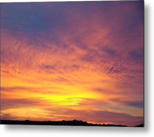 Landscape Metal Print featuring the photograph Ice Cream Sunset Two by Ana Villaronga