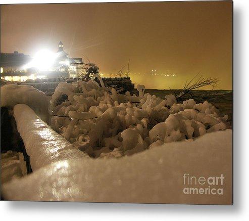 Frozen Tree Metal Print featuring the photograph Ice In Sepia by Deborah Selib-Haig DMacq