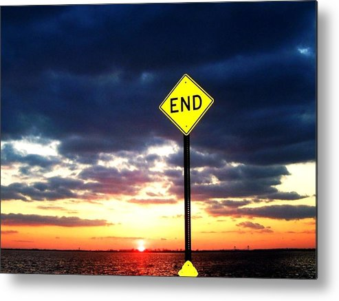Humor Metal Print featuring the photograph Idoits Guide To The End Of The Day by Mario Belluomo