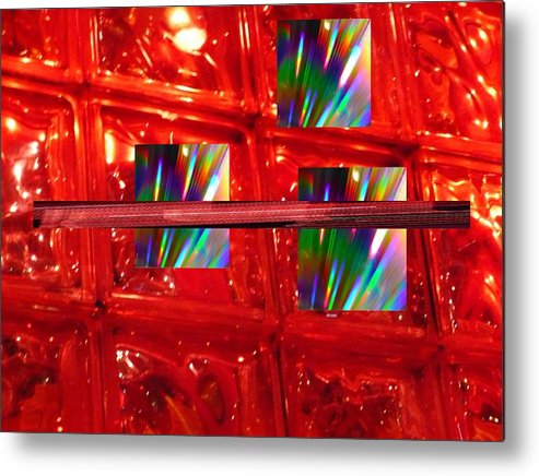 Abstrtact Metal Print featuring the digital art Illusions by Florene Welebny