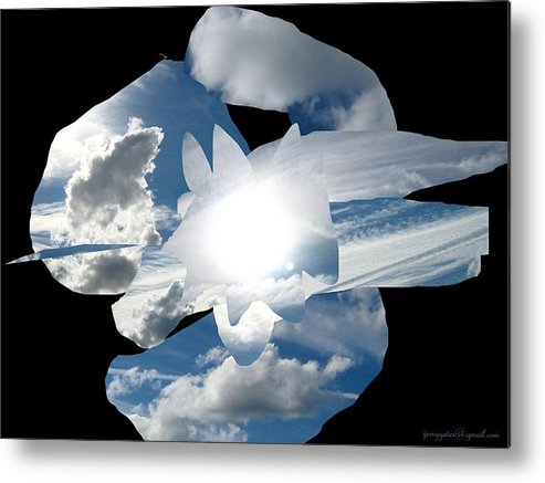 Abstract Metal Print featuring the photograph Imagine by Gerard Yates