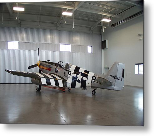 P-51 Metal Print featuring the photograph Impatient Virgin Hangered by Gene Ritchhart