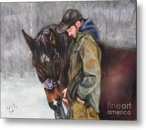 Horse Metal Print featuring the painting In All Weather by Melissa Hughes