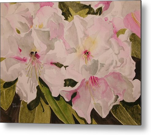 Pink Metal Print featuring the painting In The Pink by Jean Blackmer
