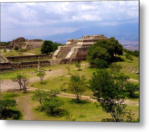 Monte Alban Metal Print featuring the photograph Indian Ruins by Michael Peychich
