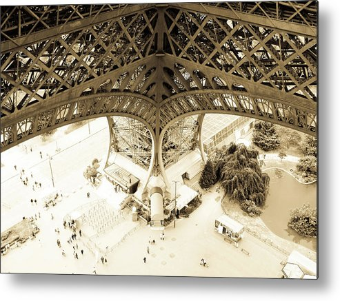 Eiffel Tower Metal Print featuring the photograph Inside Eiffel by Patrick Rabbat