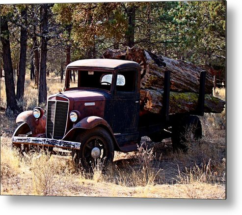 Truck Metal Print featuring the photograph International Log Truck by Nick Kloepping
