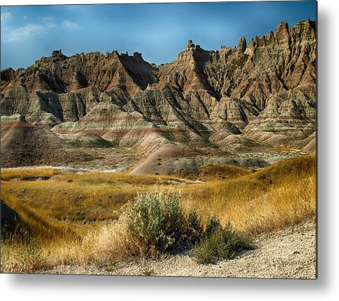 Ann Keisling Metal Print featuring the photograph Into The Badlands South Dakota by Ann Keisling