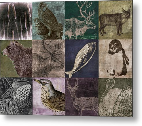 Mancave Metal Print featuring the painting Into The Woods by Mindy Sommers