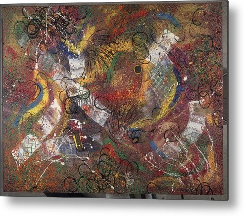 Abstract Metal Print featuring the painting Introuvable Ailleurs by Dominique Boutaud